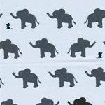 VERA Elefanten und Mäuschen hellblau