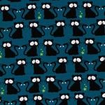 VERA Katzen bei Nacht petrol