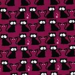 VERA Katzen bei Nacht fuchsia