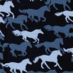VERA Pferde dunkelblau blau