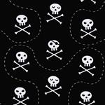 VERA Piratenschädel schwarz