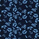 VERA Piratenmotive dunkelblau blau