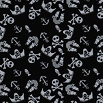 VERA Piratenmotive schwarz grau