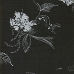 MARY Jersey silberne Blumen graubraun
