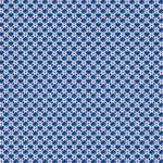 JULIA gewebte Baumwolle Herzen blau