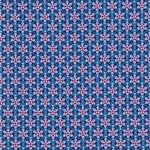 JULIA gewebte Baumwolle Blumen blau rot