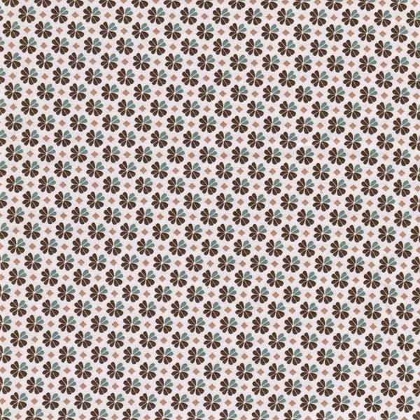 JULIA gewebte Baumwolle Klee braun