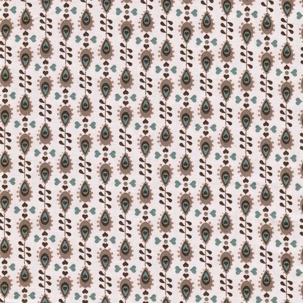JULIA gewebte Baumwolle Blümchen braun