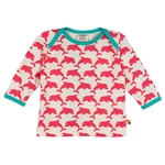 Loud + Proud Shirt Druck Delfin coral