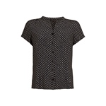 King Louie DEE BLOUSE SMOOTH black