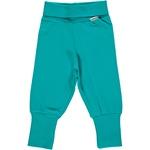Maxomorra Pants Rib turquoise