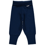 Maxomorra Pants Rib dark blue