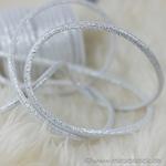 Kunstleder-Kordel Glitzer 7 mm weiß