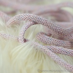 breite Kordel Lurex 10 mm rosa