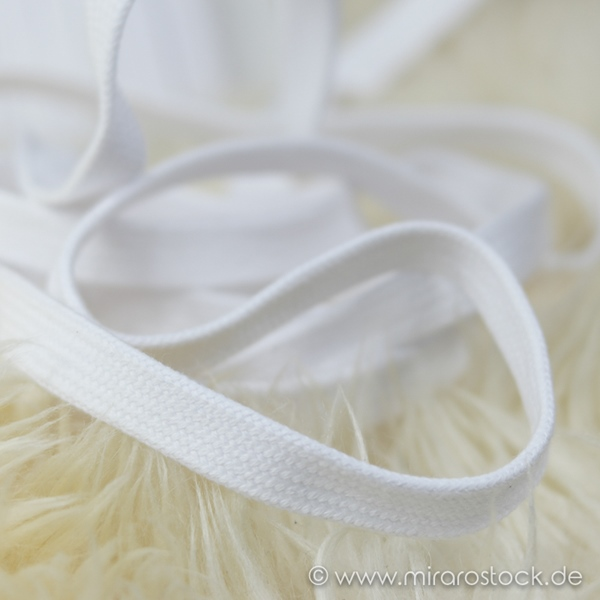 Flechtkordel flach 15 mm weiß