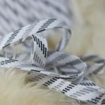 Flechtkordel flach 15 mm weiß grau