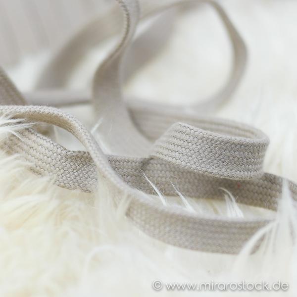 Flechtkordel flach 15 mm beige