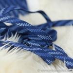 Flechtkordel flach 15 mm blau hellblau