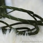 Flechttresse 10 mm oliv creme