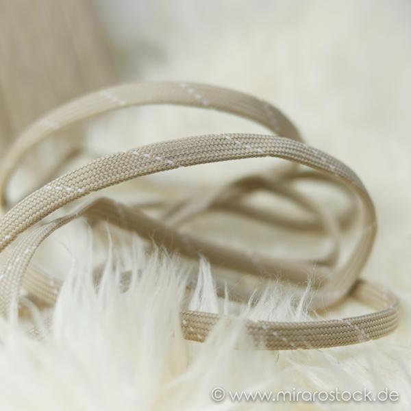 Flechttresse 10 mm beige weiß