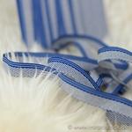 Ripsband gestreift 10 mm blau hellblau