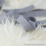 Gummiband 20 mm hellgrau meliert