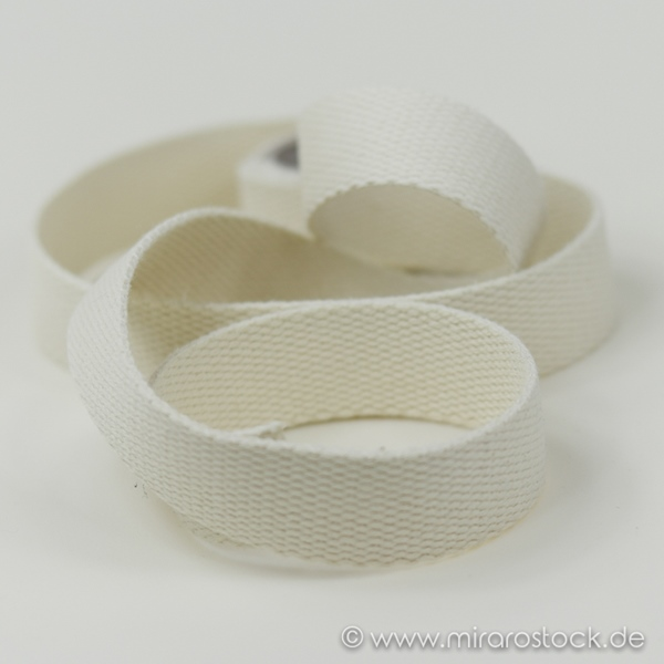 Gurtband 40 mm natur