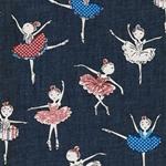 DEMI leichter Jeansstoff Ballerinas blau