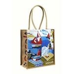 Seasalt JUTE SHOPPER breton scene