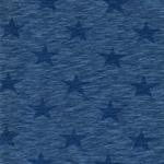 NADINE Slub Jersey Stern meliert blau