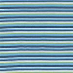 Feinripp-Jersey Streifen Blautöne