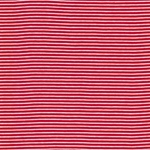 Feinripp-Jersey Ringel rot weiß