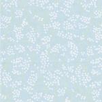BERLIN Webstoff Blüte bleu weiß