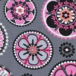LA DEE DA Webstoff Blumen grau pink