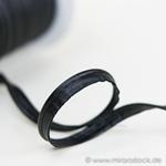 Kunstleder-Paspel schwarz
