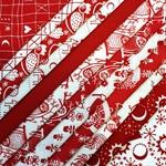 Stoffpaket KLASSIKER Webstoffe rot weiß