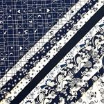 Stoffpaket KLASSIKER Webstoffe blau weiß