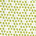 MINI PRINTS Webstoff Äpfel weiß hellgrün