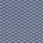 LUNA Wachstuch Wellenmuster blau