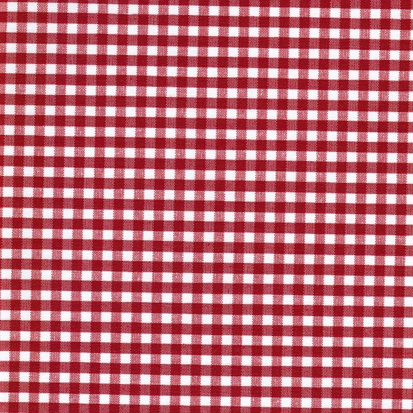 AMEL beschichtete Baumwolle Vichy rot