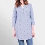 Brakeburn ANCHOR DOBBY SHIRT DRESS blau