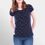 Brakeburn EMBROIDERED ANCHOR TEE navy