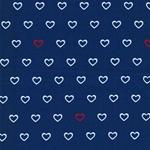 NORDSEE Jersey Herzen blau
