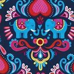 HHL ELEPHANT LOVE Bw-Popeline dunkelblau