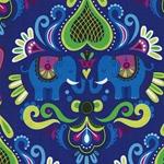 HHL ELEPHANT LOVE Bw-Popeline violett