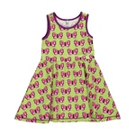 Maxomorra Dress Gathered BUTTERFLY