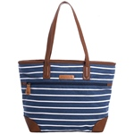 Brakeburn STRIPE CANVAS TOTE BAG navy