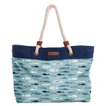 Brakeburn FISHES BEACH BAG blue