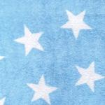 BINI STARS Flausch hellblau weiß