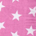 BINI STARS Flausch rosa weiß